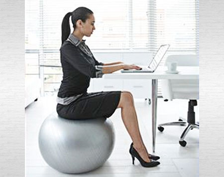 Sitting-on-a-ball-at-work