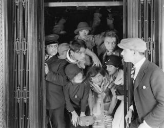 Vintage-crowded-elevator